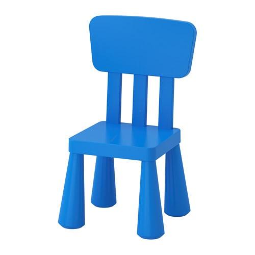 【IKEA/イケア/通販】 MAMMUT マンムット 子供用チェア, 室内/屋外用, ブルー(e)(00365349)