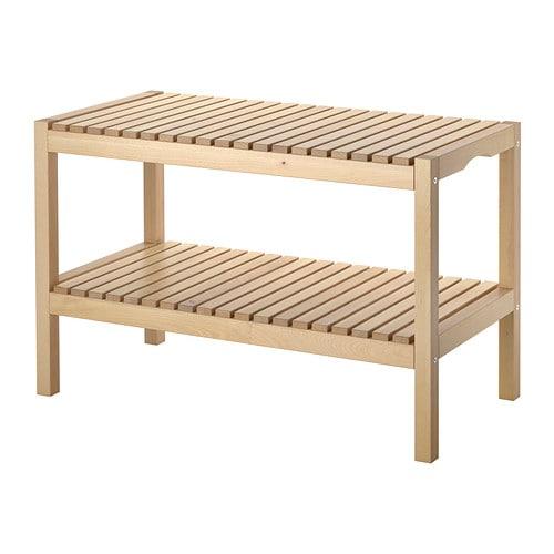 【期間限定】【IKEA/イケア/通販】 MOLGER モルゲル ベンチ, バーチ(d)(20241452)の写真
