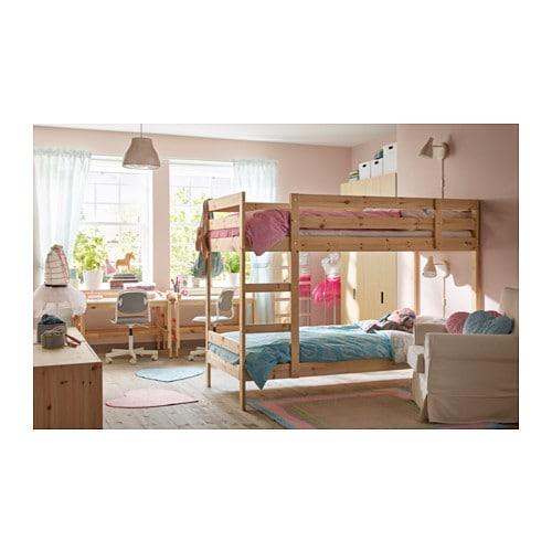 【IKEA/イケア/通販】MYDALミーダル2段ベッドフレーム(a)(※マットレスなど別売りの商品がございます。ご注意ください),パイン材(00368772)【代引不可商品】