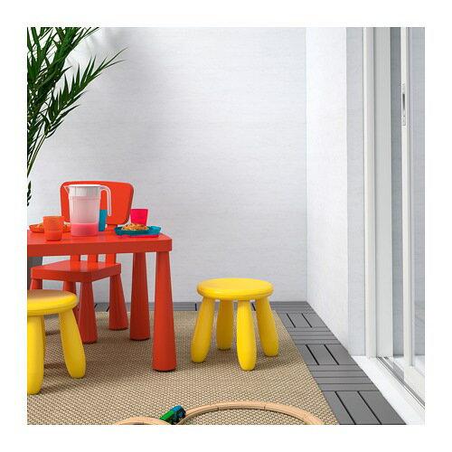 【IKEA/イケア/通販】 MAMMUT マンムット 子供用スツール, 室内/屋外用, イエロー(c)(90382325)