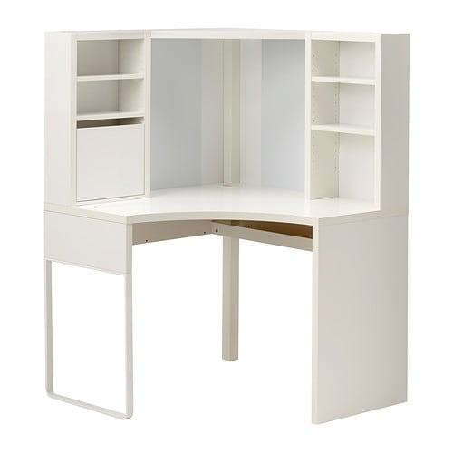【IKEA/イケア/通販】 MICKE ミッケ コーナーワークステーション, ホワイト(d)(20354284)【代引不可商品】