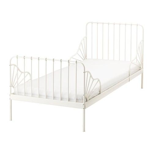 【IKEA/イケア/通販】 MINNEN ミンネン 伸長式ベッドフレーム(d)(※マットレスなど別売りの商品がございます。ご注意ください)とすのこ(組み合わせ), ホワイト(S39124617)【代引不可商品】[FD]