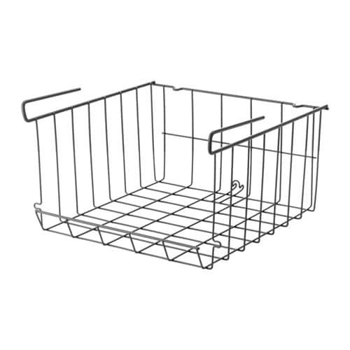【IKEA/イケア/通販】 OBSERVATÖR オブセルヴァトール クリップオンバスケット, グレーブラウン(c)(00312493)