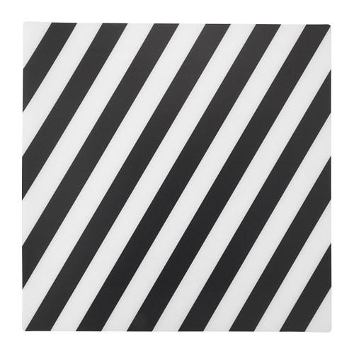 【IKEA/イケア/通販】 PIPIG ピーピグ ランチョンマット, ストライプ, ブラック/ホワイト(c)(70342948)