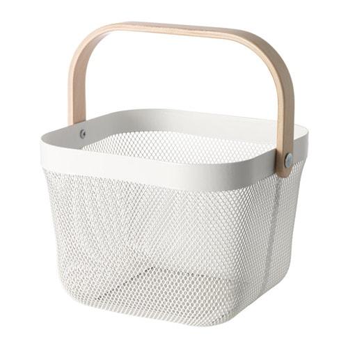【IKEA/イケア/通販】 RISATORP リーサトルプ バスケット, ホワイト(c)(70281619)