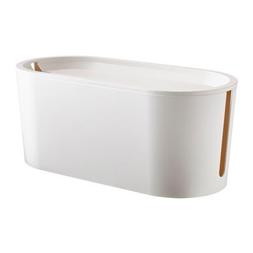 【IKEA/イケア/通販】 ROMMA ロマ ケーブルマネジメントボックス ふた付き, ホワイト(c)(10289835)[AB]