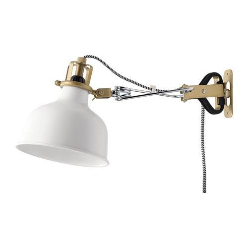 【IKEA/イケア/通販】 RANARP ラーナルプ ウォール/クリップ式 スポットライト, オフホワイト(d)(60231328)