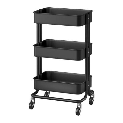 【IKEA/イケア/通販】 RÅSKOG ロースコグ ワゴン, ブラック(f)(70333977)[D]