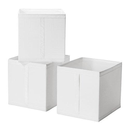 【IKEA/イケア/通販】 SKUBB スクッブ ボックス, ホワイト/3 ピース(e)(10186390)