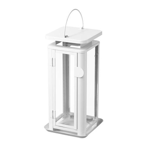 【IKEA/イケア/通販】 SINNESRO スィッネスロー ブロックキャンドル用ランタン 室内/屋外用, ホワイト(b)(80334684)