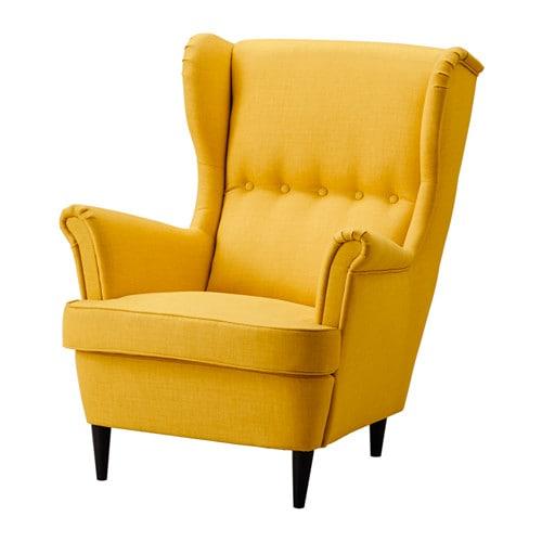 【期間限定】【IKEA/イケア/通販】 STRANDMON ストランドモン ウイングチェア, スキフテボー イエロー(a)(60361895)【代引不可商品】