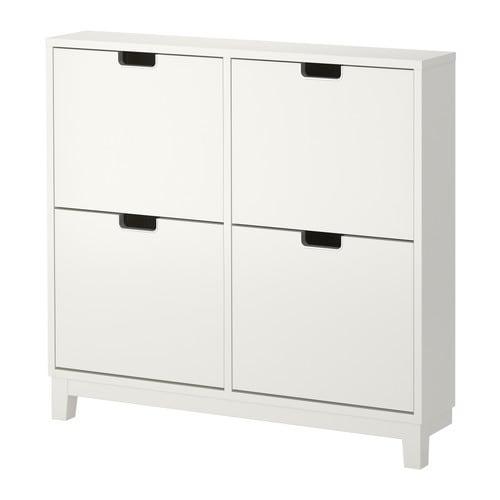 【期間限定】【IKEA/イケア/通販】 STÄLL ステル 靴収納用キャビネット 4コンパートメント, ホワイト(d)(30178172)の写真