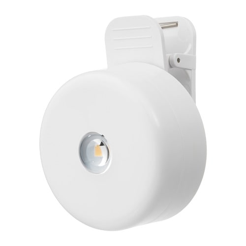 【IKEA/イケア/通販】 STÖTTA ストッタ LEDクリップ式スポットライト, 電池式 ホワイト(c)(60287235)[A]