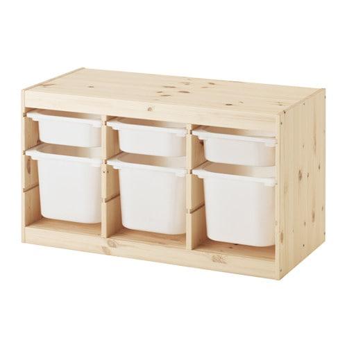 【IKEA/イケア/通販】 TROFAST トロファスト 収納コンビネーション, ライトホワイトステインパイン, ホワイト(d)(S29240877)