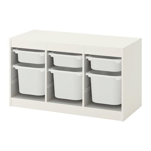 【IKEA/イケア/通販】 TROFAST トロファスト 収納コンビネーション, ホワイト, ホワイト(d)(S89222413)の写真