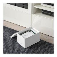 【IKEA/イケア/通販】TJENAティエナ収納ボックスふた付き,ホワイト(a)(30395420)
