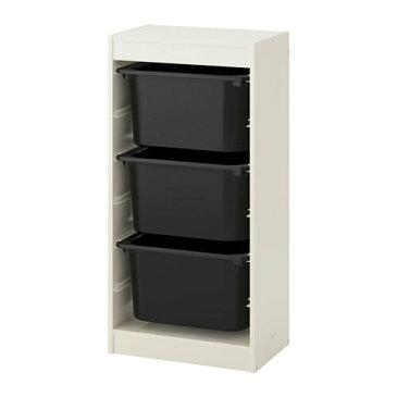 【IKEA/イケア/通販】 TROFAST トロファスト 収納コンビネーション, ホワイト, ブラック(a)(S59222424)