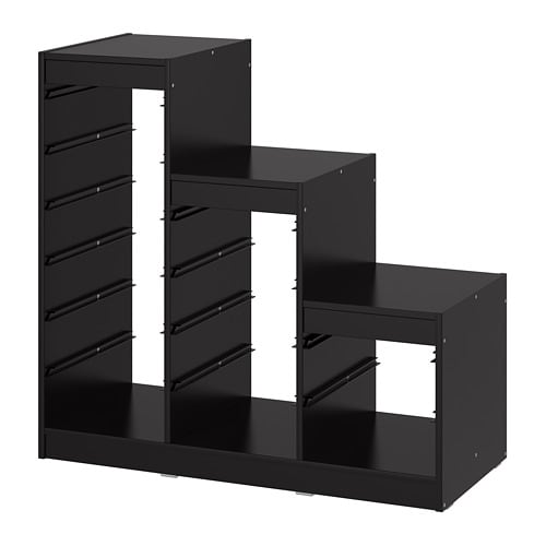 【IKEA/イケア/通販】 TROFAST トロファスト フレーム, ブラック(d)(00351432)の写真