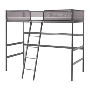 【期間限定】【IKEA/イケア/通販】 TUFFING トゥッフィング ロフトベッドフレーム(a)(※マットレスなど別売りの商品がございます。ご注意ください), ダークグレー(10299448)【代引不可商品】