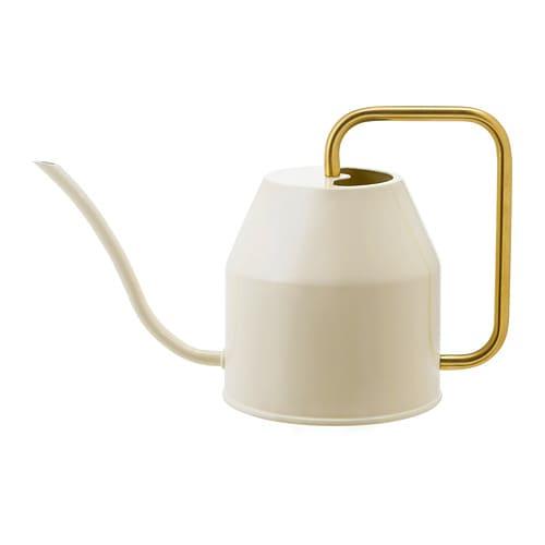 【IKEA/イケア/通販】 VATTENKRASSE ヴァッテンクラッセ じょうろ, アイボリー, ゴールドカラー(b)(90394154)