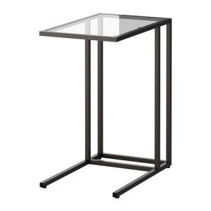【期間限定】【IKEA/イケア/通販】 VITTSJÖ ヴィットショー ラップトップスタンド, ブラックブラウン, ガラス(c)(80250250)