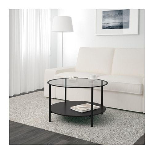 【IKEA/イケア/通販】 VITTSJÖ ヴィットショー コーヒーテーブル, ブラックブラウン, ガラス(a)(00213313)