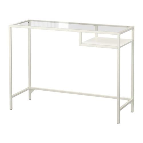 【IKEA/イケア/通販】 VITTSJÖ ヴィットショー ラップトップテーブル, ホワイト, ガラス(d)(10303445)