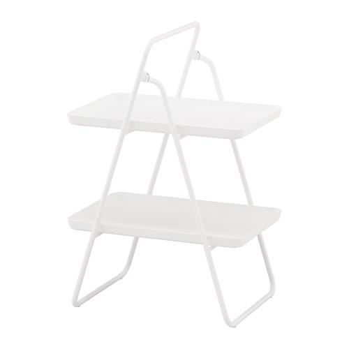 【IKEA/イケア/通販】 VIGGJA ヴィッグヤ トレイスタンド, ホワイト(e)(90351480)