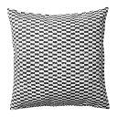 【IKEA/イケア/通販】 YPPERLIG イッペルリグ クッションカバー(※カバーのみの商品です), ブラック/ホワイト(c)(70346833)の写真