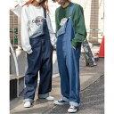 デニムオーバーオール WEGO メンズ レディース ユニセックス 男女 ボトムス ボトム パンツ デニム ジーンズ オーバーオール サロペット お揃い 双子 ウィゴー WEGO・・・