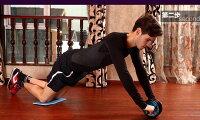 【あす楽対応】筋肉トレーニング腹筋ローラーアブホイールエクササイズローダブルエクササイズウィール【最新デザイン】膝マットセットセール