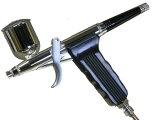 【三方良し】ガングリップタイプエアーブラシセットダブルアクショントリガーノズル0.2、0.3、0.5mmカップ容量7cc/10cc