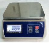 防塵デジタル皿はかり30kg/5gバッテリー内蔵充電式液晶大画面表示ステンレス皿仕様おすすめ