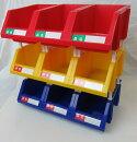 連結パーツボックス(小)×18コ【三方良し】三色混合セット(ブルー/イエロー/レッド各6コ)名札付