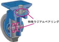 静音プラスチック150樹脂製折畳み式台車【三方良し】サイレント静音キャスター付『騒音値40dB』台車コンパクトで軽量WDX150