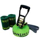 【スラックライン】【WCPSlackline】Glitterline15m『FluorescentGreen/蛍光緑発光ライン』(ツリーウェア2枚/収納ザック付属)日本メーカー最新モデル発売