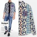 デジガル/2020春夏☆数量限定!花柄パッチワークオーガニックシャツ(MEN'S)
