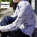 デジガル/2020春夏☆数量限定!手書き風オーガニックストライプシャツ(MEN'S)