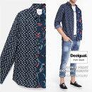 デジガル/2020春夏☆数量限定!ダブルプリントオーガニックシャツ(MEN'S)