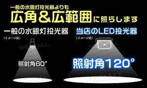 LED投光器75Wハイワットタイプ6000K昼光色広角130度防水加工3mコード付き送料無料[LED投光器看板灯集魚灯作業灯駐車場灯ナイター照明LEDライト多用途人気]A42E4
