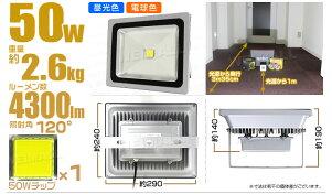 LED投光器50W500W相当6000K昼光色広角120度防水加工3mコード付き送料無料[LED投光器看板灯集魚灯作業灯駐車場灯ナイター照明LEDライト多用途人気]A42D4