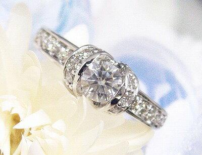 プラチナ ダイヤモンド リング 0.65カラット リボン ダイヤリング ダイヤリング ダイヤモンドリング  レディース シンプル  受注品 記念 ジュエリー アクセサリー お祝い ギフト 誕生日プレゼント 女性 贈り物 ダイアモンド:WEING