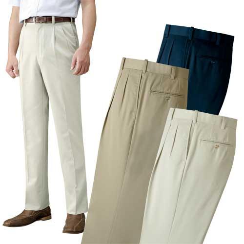 裾上げ済みコットンスラックス3色組 ズボン 413689 50代 60代