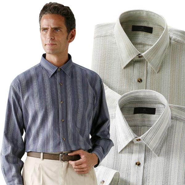 長袖 ボタンシャツ 匠 しじら織りレギュラーカラーシャツ 3色組 メンズ 春夏 50代 60代 41030-AR