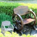 車輪ベンチ 幅65.5cm ヴィンテージ風ベンチ 杉松天然木 WB-650