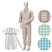 タッチホックタイプ フルオープンタイプ・ シーズン パジャマ つなぎ服 寝たきり
