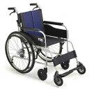 【ミキ】自走式車いす イージースルー EST-2 ブルー 座幅40cm=非課税=【メーカー直送】※返品・交換不可※代引不可※【介護用品】車椅子/車いす/イス【通販】