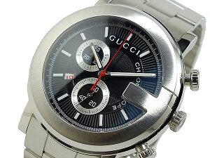 GUCCI グッチ 腕時計 メンズ Men's 時計 Gラウンド G-ROUND YA101309 ブラック シルバー 人気 高級 ブランド 黒 銀 グッチ腕時計 グッチ時計 オススメ おしゃれ うでどけい 男性 ギフト プレゼント