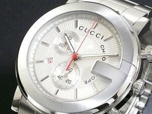 GUCCI グッチ 腕時計 メンズ Men's 時計 クロノグラフ YA101339 シルバー 人気 高級 ブランド グッチ腕時計 グッチ時計 オススメ おしゃれ うでどけい 男性 ギフト プレゼント