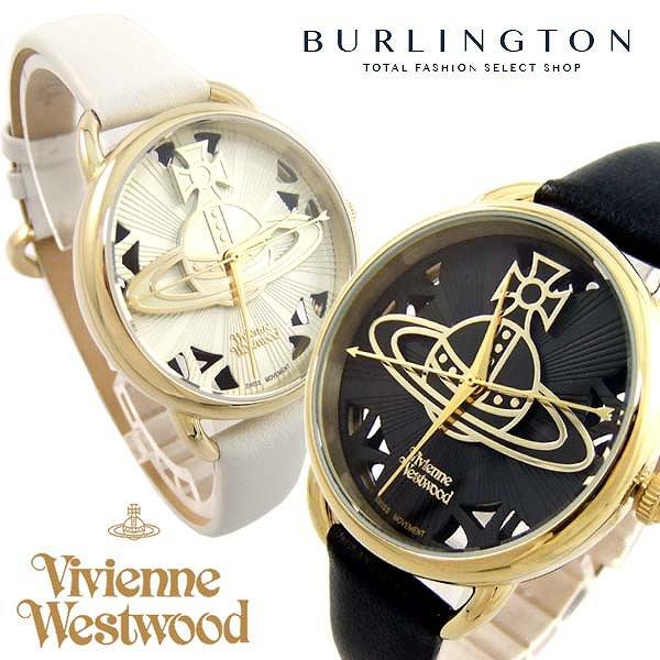 2017年 新作 Vivienne Westwood ヴィヴィアン ウエストウッド 腕時計 レディース オーブ VV163BKBK VV163CMCM ブラック ホワイト ゴールド 黒 白 金 レザーベルト ヴィヴィアンウエストウッド かわいい おしゃれ ビビアン 激安 セール sale 女性 ギフト プレゼント